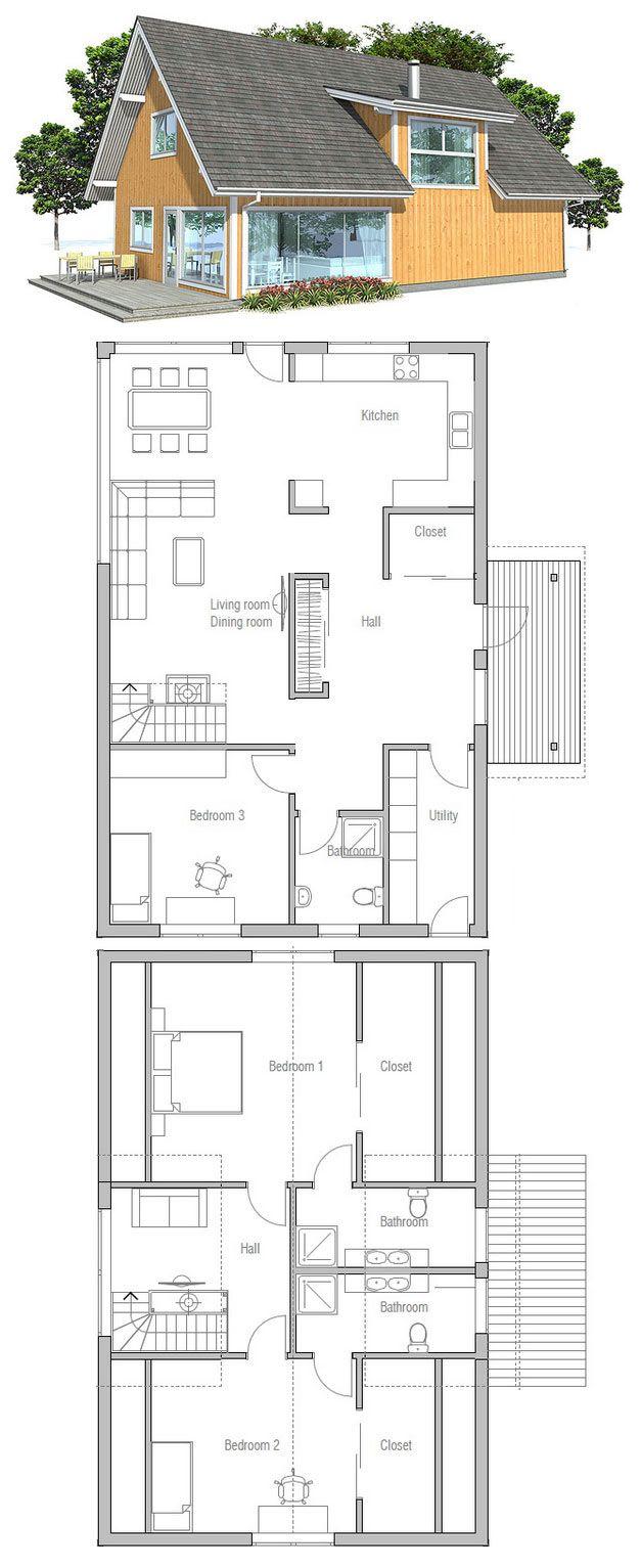Plan De Petite Maison Plus Plan Maison House Plans