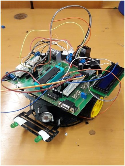 Project Bluetooth Controlled Robot using pic microcontroller