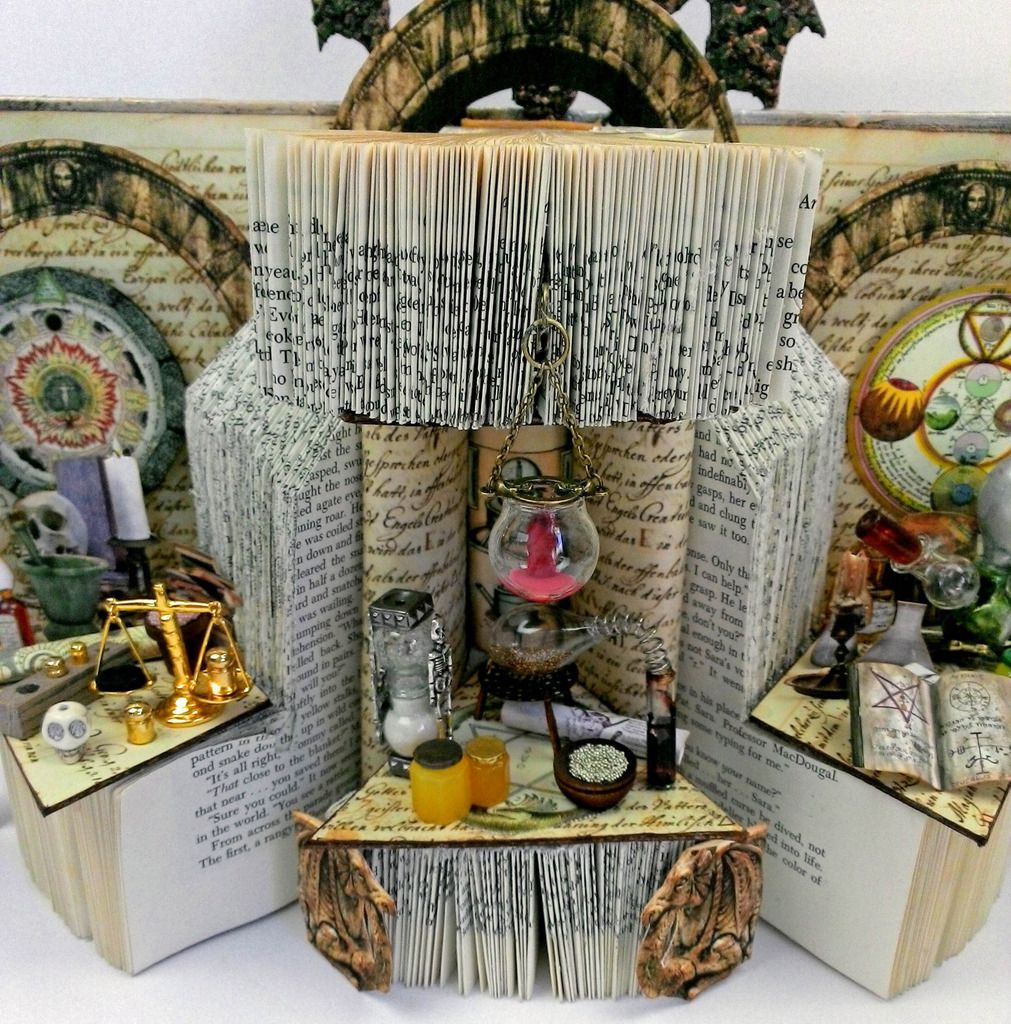 Artfully Musing TWO ALCHEMY THEMED ALTERED BOOKS WITH