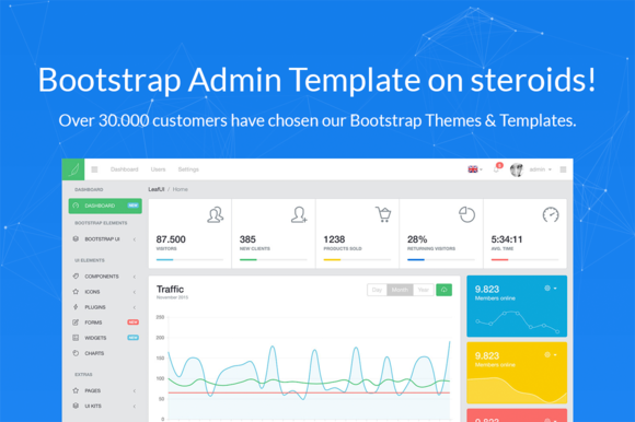 LeafUI Bootstrap 4 Admin Template by creativeLabs on