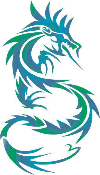 dragon airbrush stencils - Google Search | Eagles, tribal