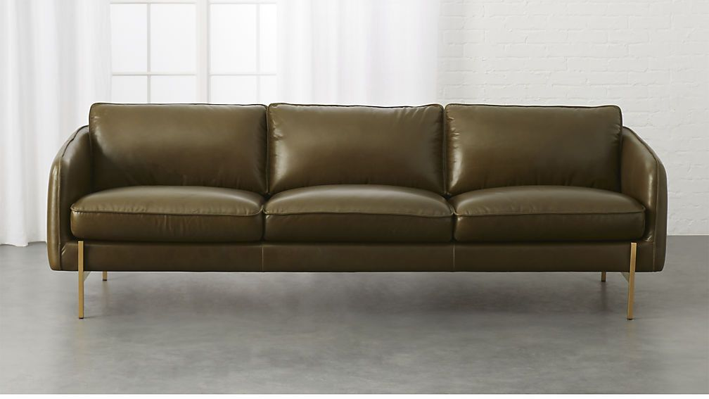 Olive Leather Sofa Green Leather Sofa Leather Couches Living
