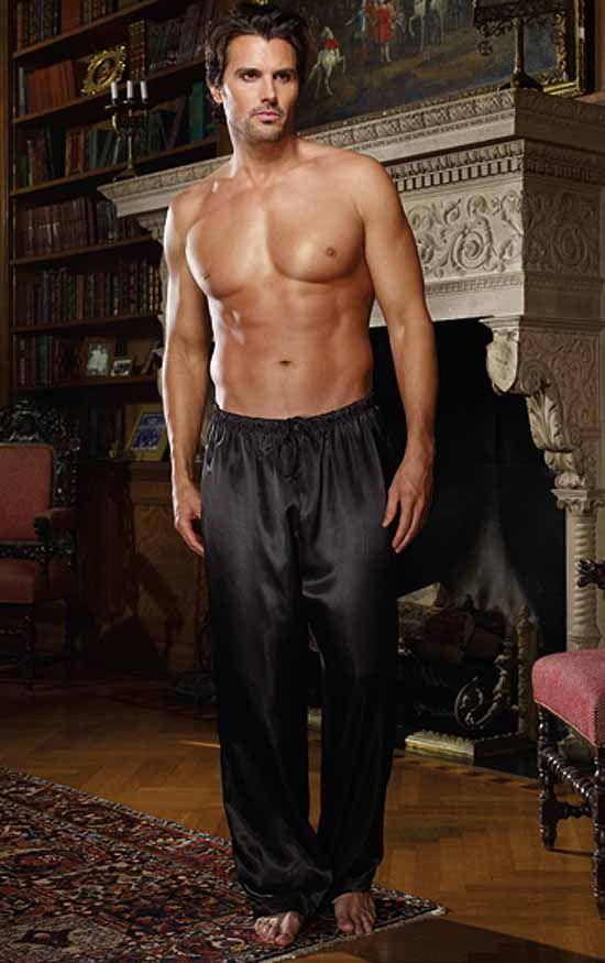 77d1153b23 Black Charmeuse Pyjama Trousers by Dreamgirl. Black Charmeuse Pyjama  Trousers by Dreamgirl Mens Silk Pajamas ...