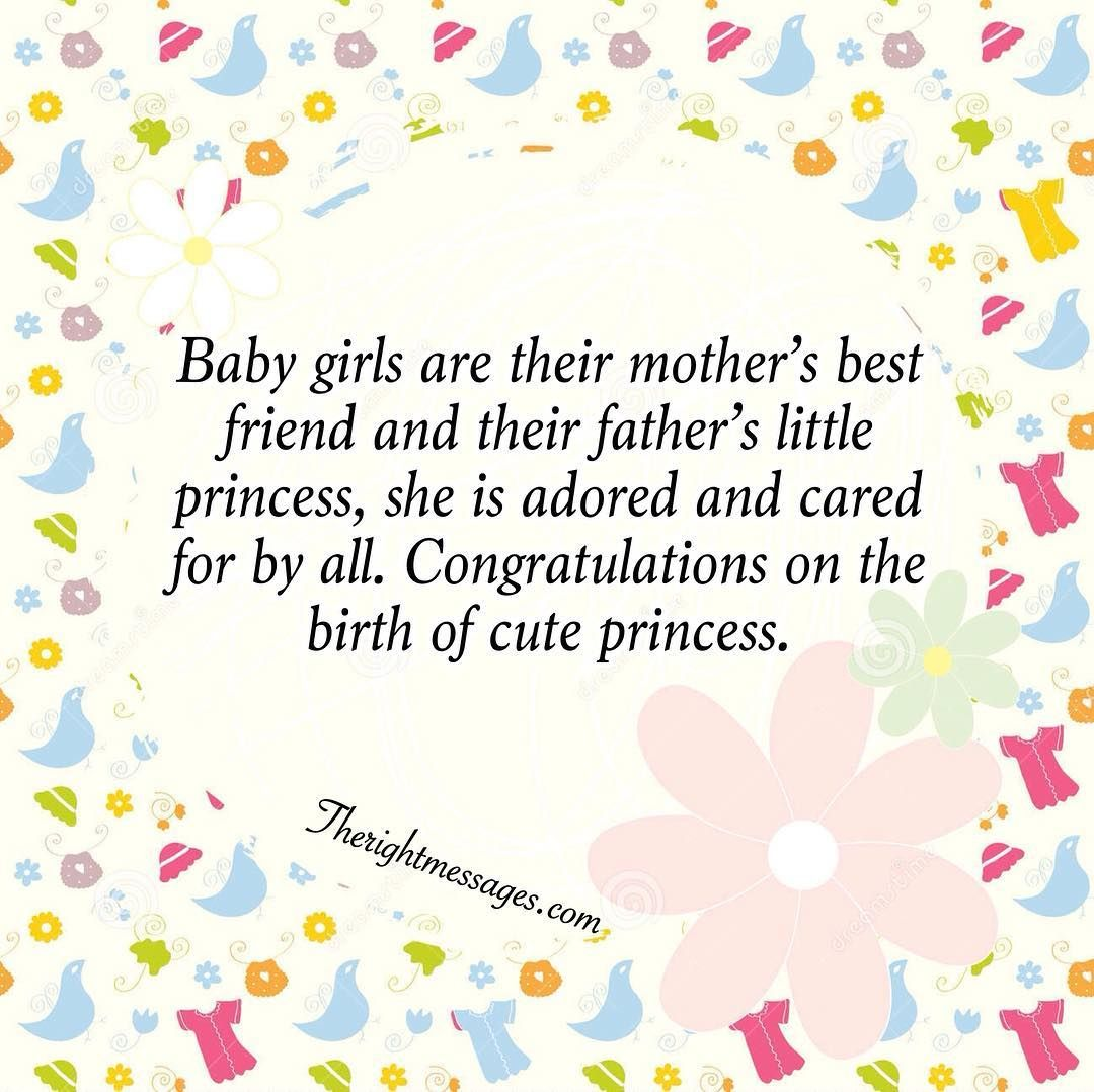 New Born Baby Girl Wishes Quotes Congratulation Messages Baby