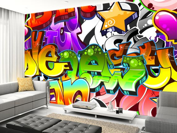 Wonderful Graffiti Wall Art Wall Mural Living Room Preview Part 17