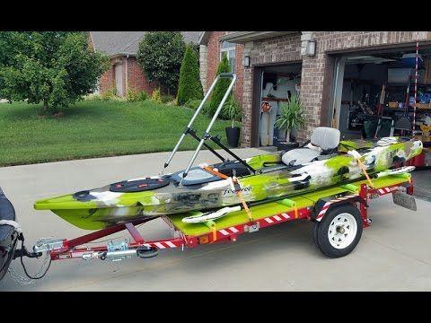 Diy Easy Kayak Upright Garage Storage Youtube Kayak Trailer Kayaking Kayaking Gear