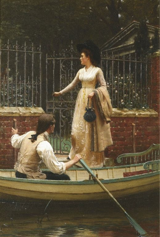 """The elopement"" - Edmund-Blair-Leighton (Londres, Inglaterra, 21 de setembro de 1852- Londres, Inglaterra, 1 de setembro de 1922)"