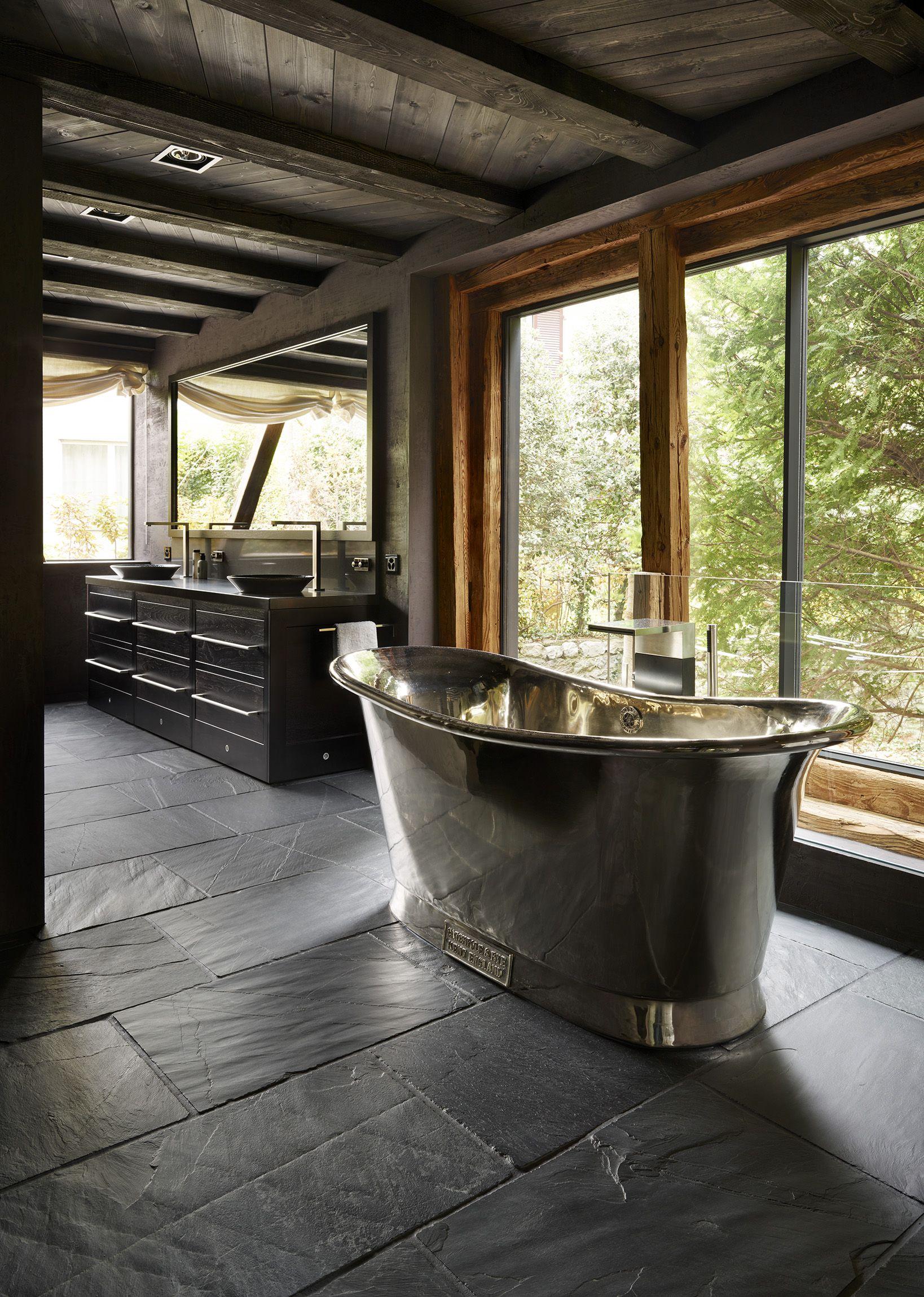 Rustic Black Slate Flagstones | Slate floor kitchen ...