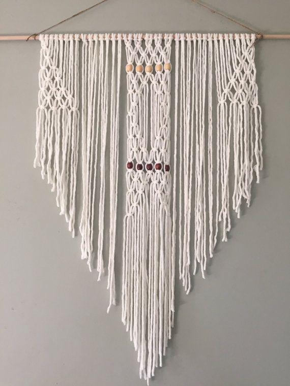 Macrame colgante por ZimZoo en Etsy tapices clásicos y modernos - tapices modernos