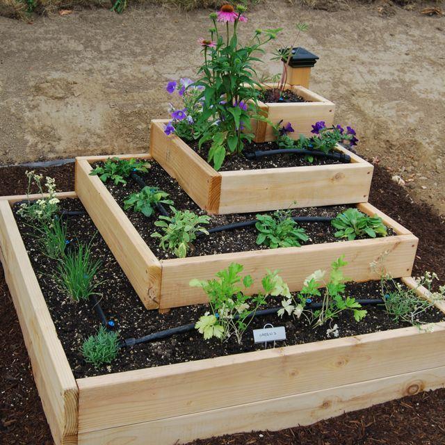 diy stacked herb garden - Herb Garden Design Ideas