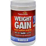 Naturade Weight Gain Vanilla  40 oz  Adds Over 1600 Calories  Gluten Free  Tastes Delicious  No added Sugar