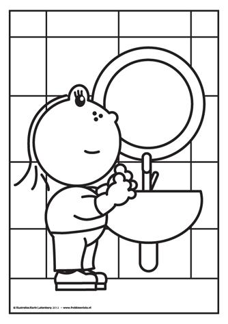 na het plassen handen wassen en dat weet lola heel goed