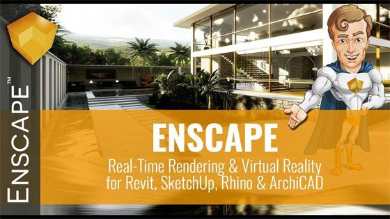Enscape belongs to a virtual reality (VR) and real-time rendering