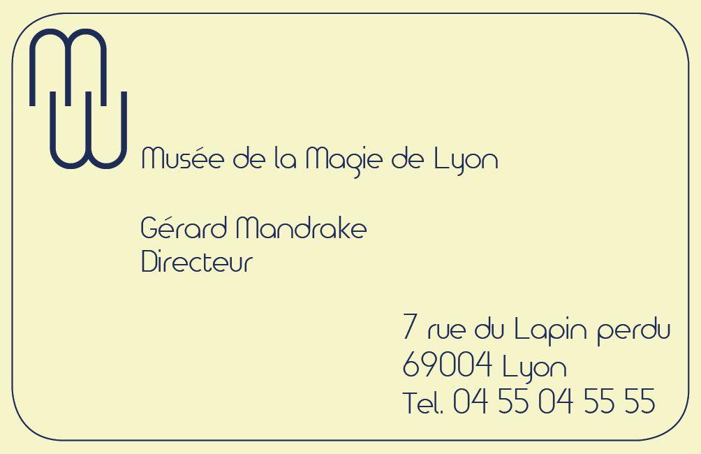 Exercice De Formation Proposition Carte Visite 2 Pour Le Muse La Magie Graphisme Graphism Cartedevisite Visitcard