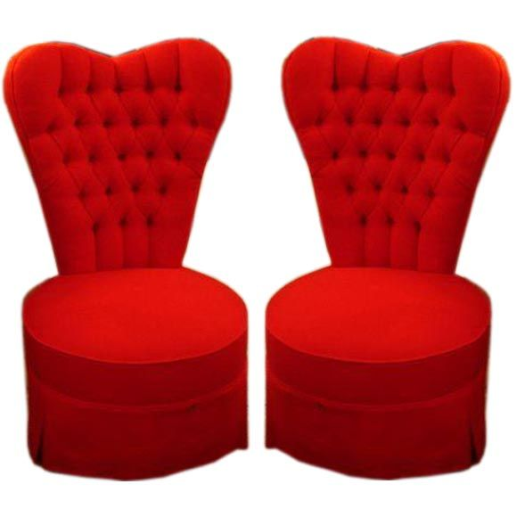 Pair of Heart Shaped Bedroom Chairs | Pinterest | Bedroom chair ...