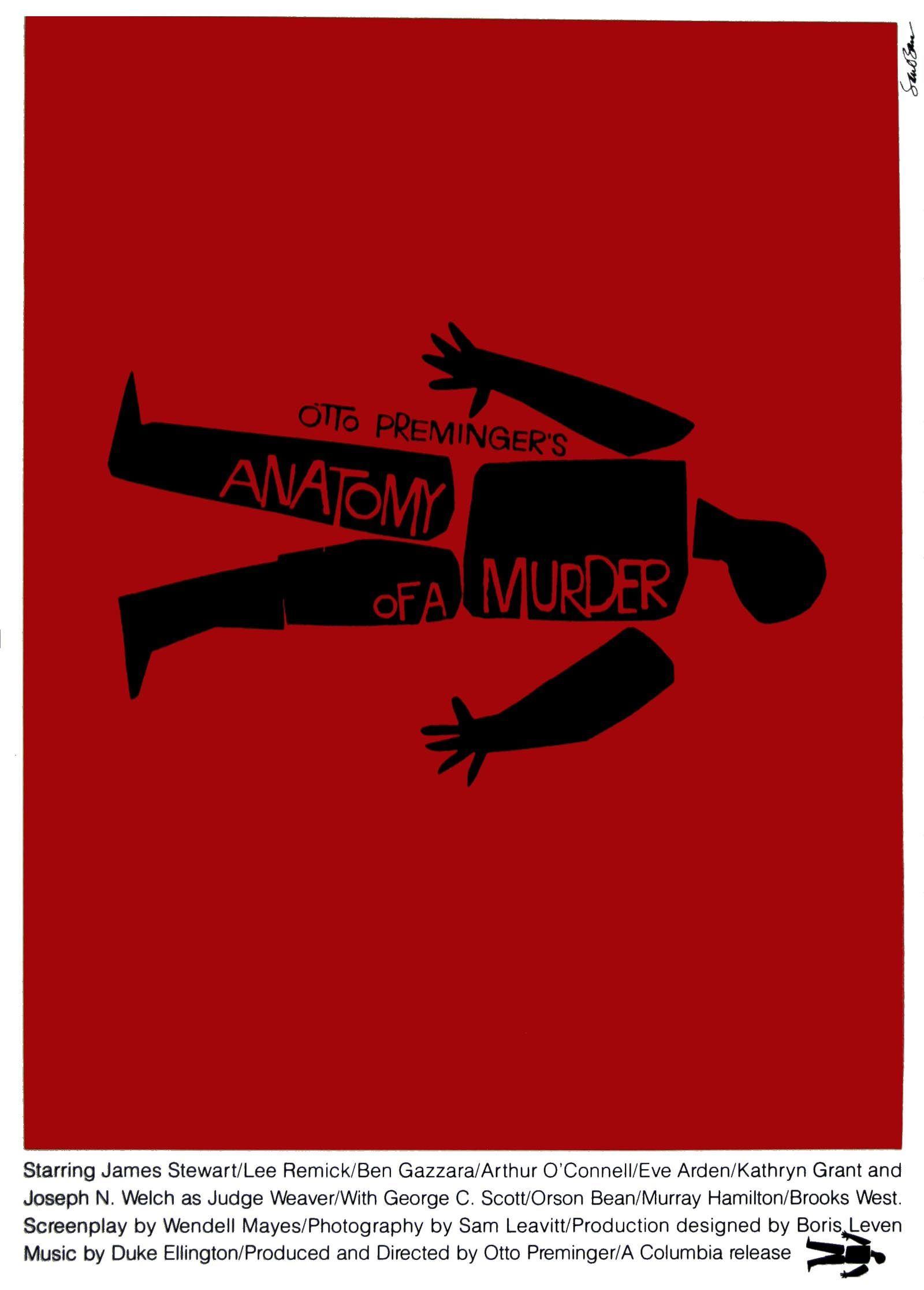 Anatomy Of A Murder | Saul Bass | Pinterest | Saul bass and Bass