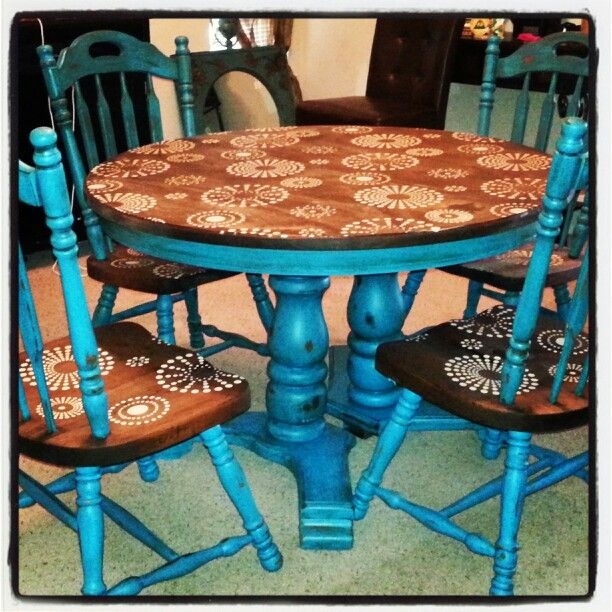 Refurbished painted and distressed dining table imperfectly perfect for the home - Painted dining tables distressed ...