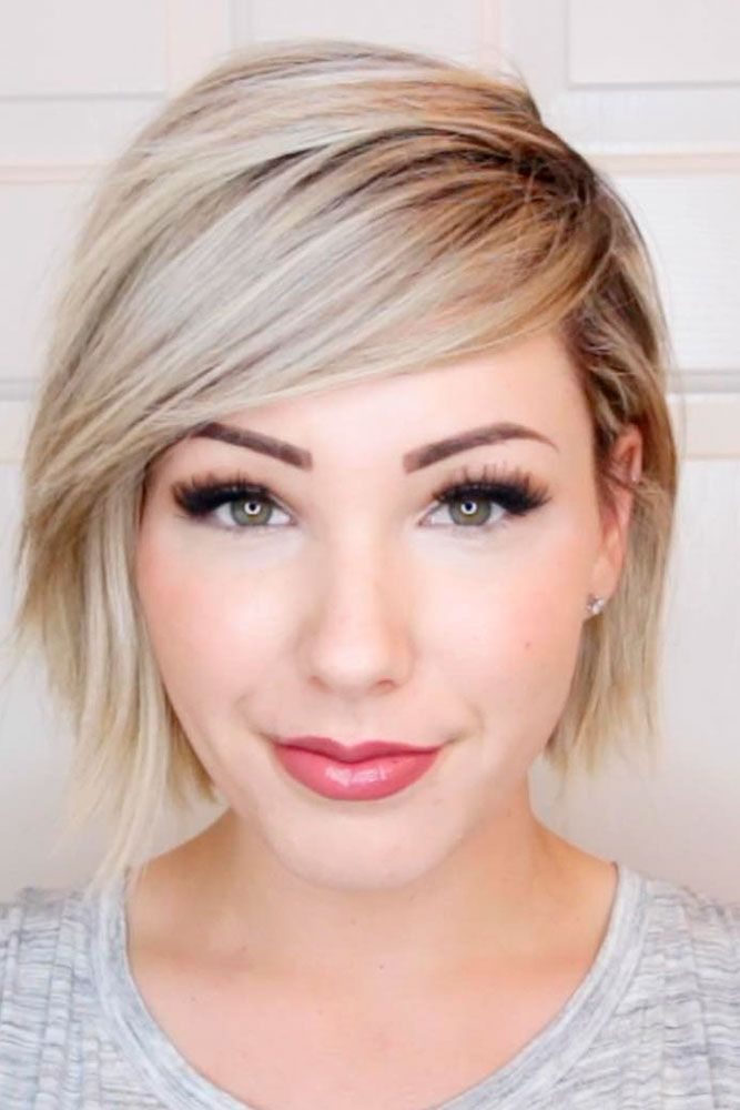40 Blonde Short Hairstyles For Round Faces Hairstyles Pinterest