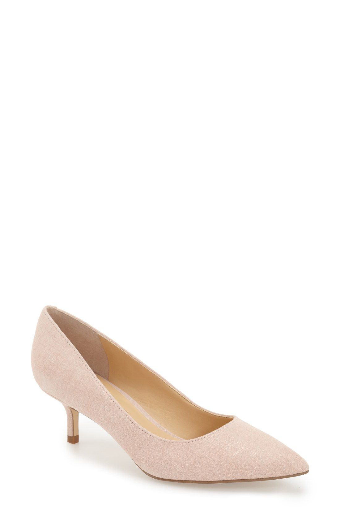 32ae4b1cf4 Ivanka Trump 'Athyna' Kitten Heel Pump (Women) | Wedding - Blush and ...