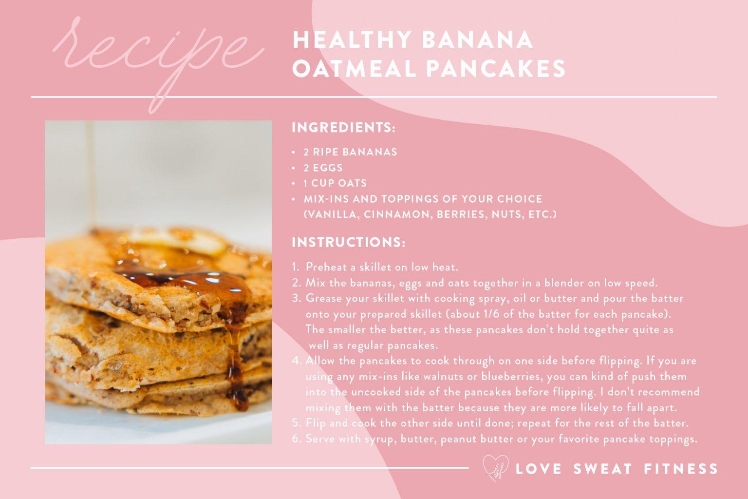 Love Sweat Fitness In 2021 Banana Healthy Healthy Pancake Recipes Banana Pancakes Healthy