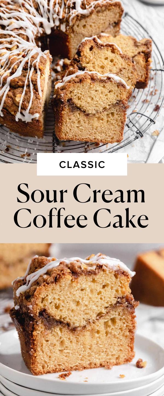 Classic Sour Cream Coffee Cake Broma Bakery Recipe in