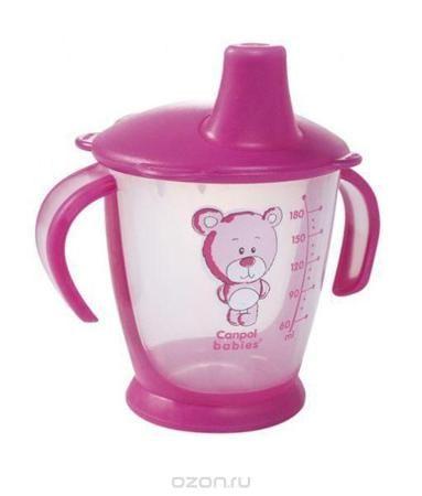 """Canpol Babies Поильник Медвежонок непроливающий цвет розовый 180 мл  — 456.8р.  Поильник Canpol Babies """"Медвежонок"""", непроливающий, цвет: малиновый, 180 мл"""