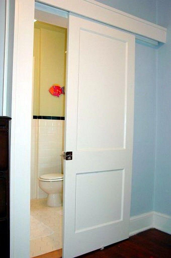 Merveilleux Single Wall Mount Sliding Door Installations (solid Door). Bathroom ...