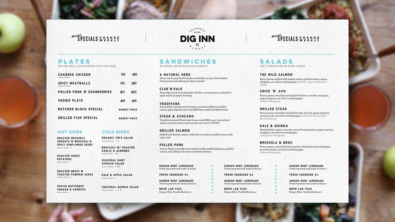 Image result for dig inn menu | Design It | Pinterest