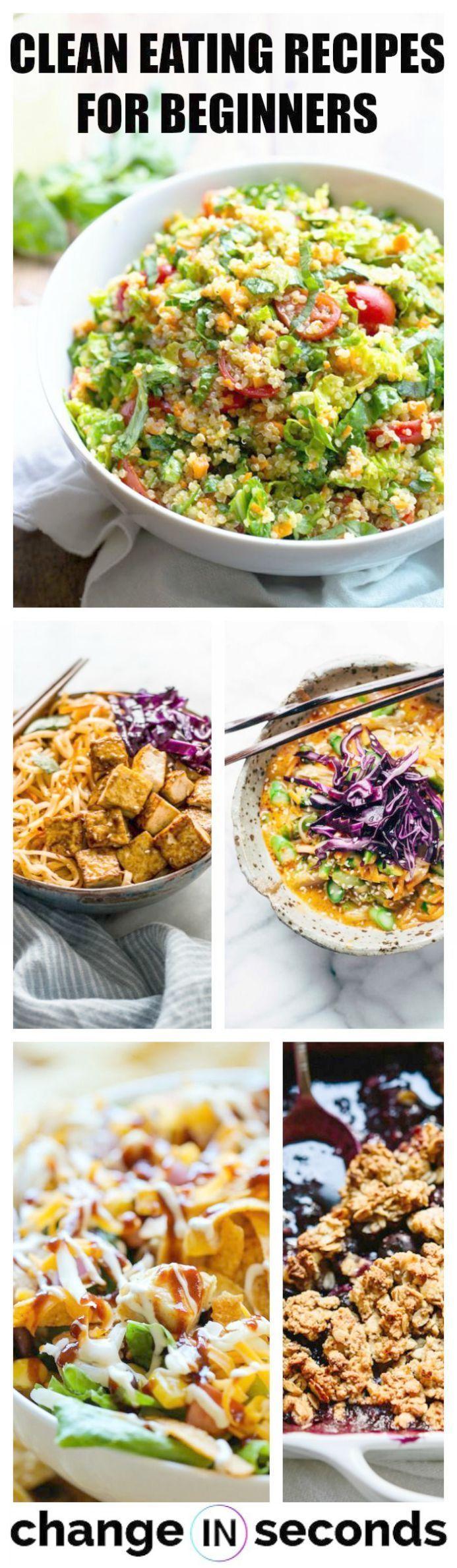 Gesunder Essenskalender gegen saubere Essensrezepte die Sie durch     Clean Eating For Beginners #cleaneatingforbeginners