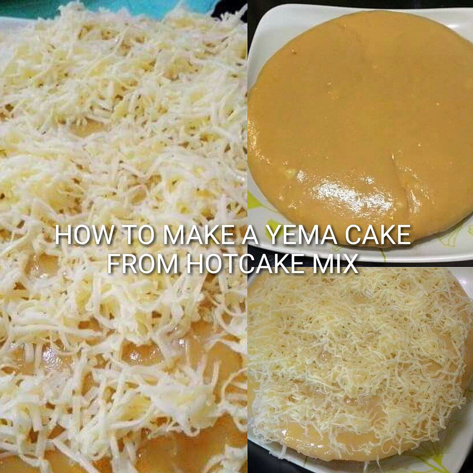 How to make a Yema Cake from a Hotcake Mix Yema cake