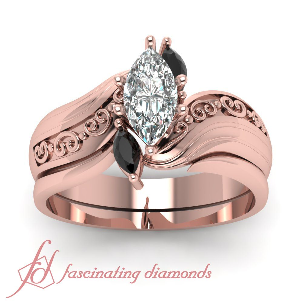 Twisted Marcasite Set | Diamond wedding sets, Marcasite and Black ...