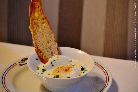 Barbarico Bongiovanni (jantar)    Uova con la panna e prezzemolo al profumo di tartufo
