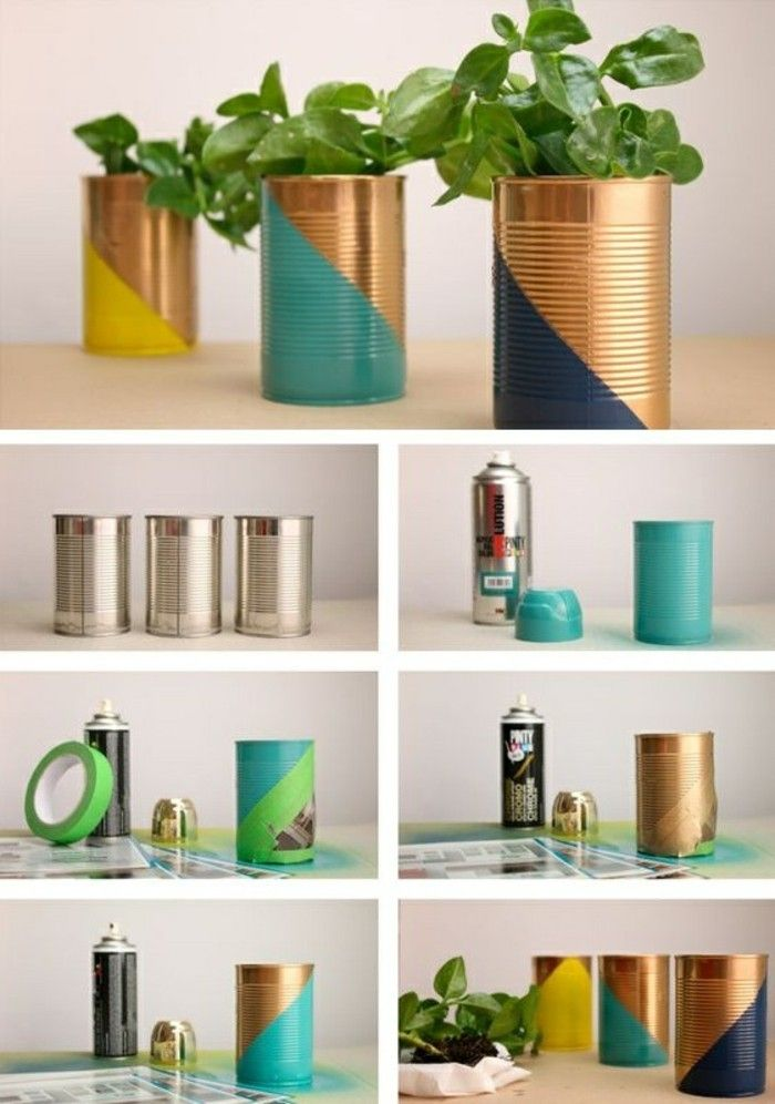 Photo of Crafts with cans: 61 great ideas for it!