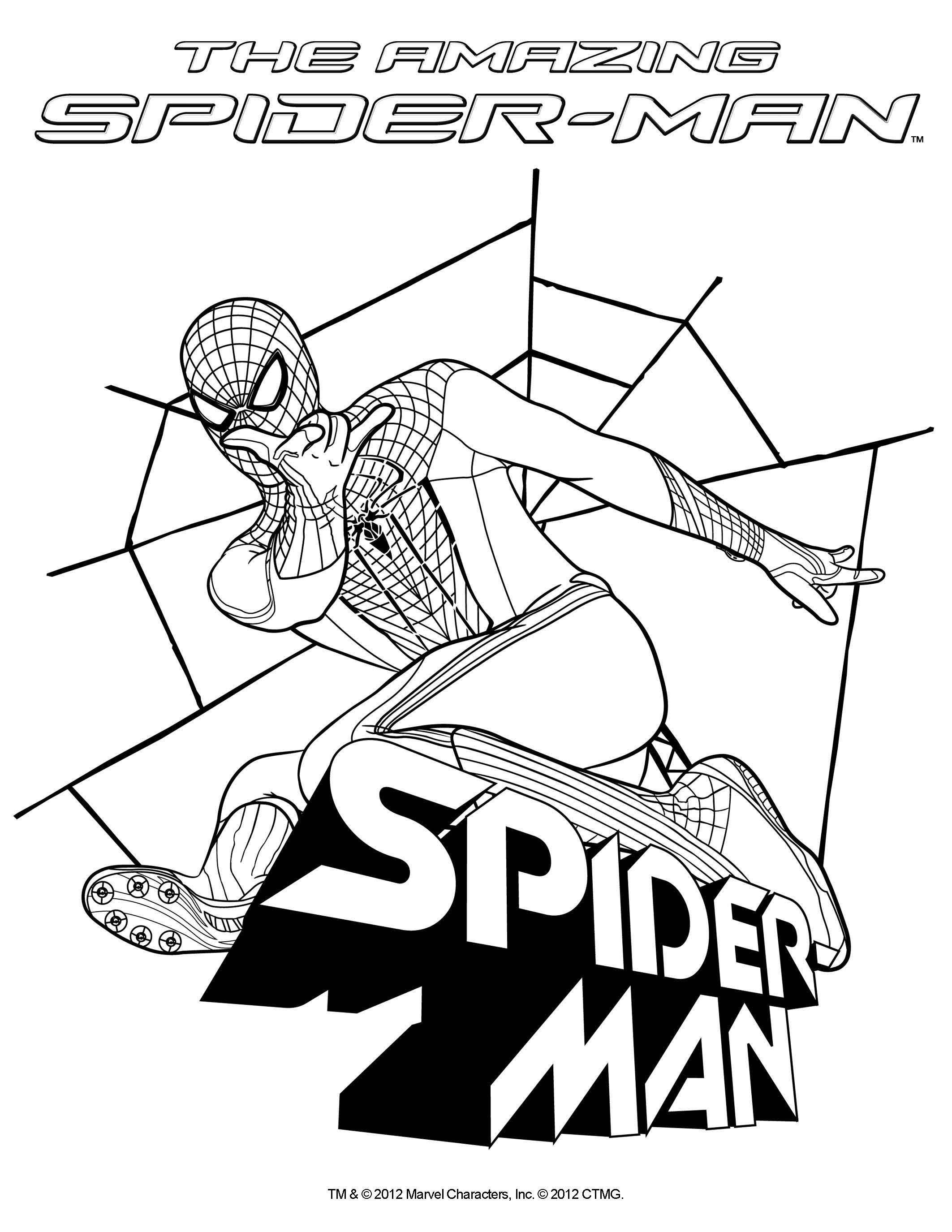 Disegni Da Colorare Spiderman Far From Home