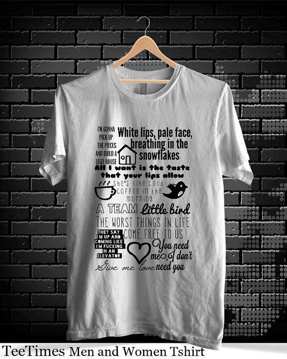 5163d0adaf Ed Sheeran Song Lyrics Tshirt Ed Sheeren Tshirt Ed by TeeTimes, $19.15