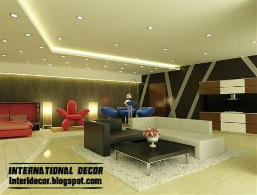interior spot lighting. ceiling lights plasterboard with spot light lighting design interior
