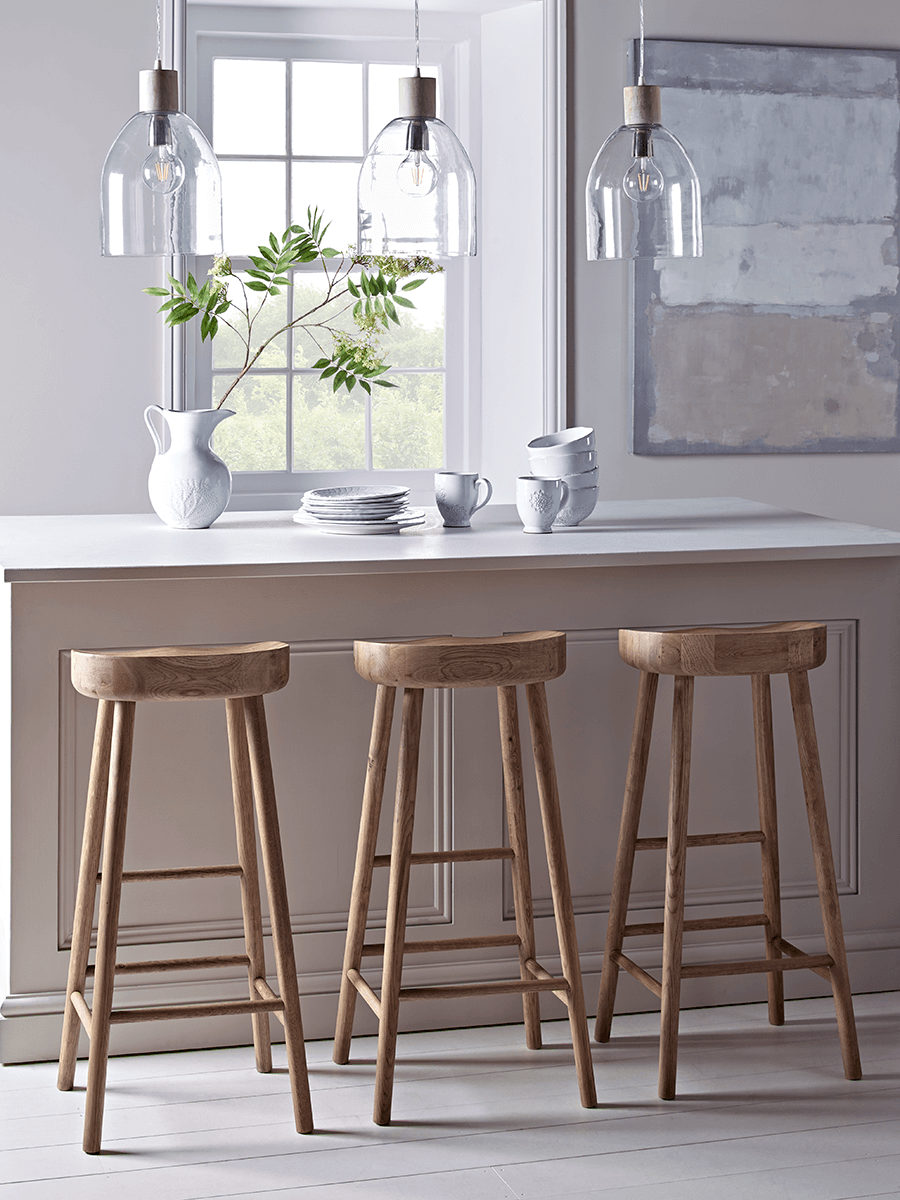 Flat Rattan Counter Stool - Natural | Kitchen Ideas in 2019 ...