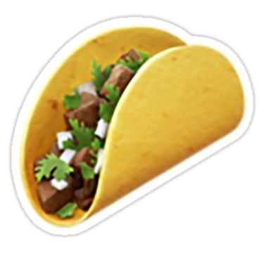 Taco Emoji Sticker By Nerdychick In 2021 Tacos Emoji Stickers Emoji