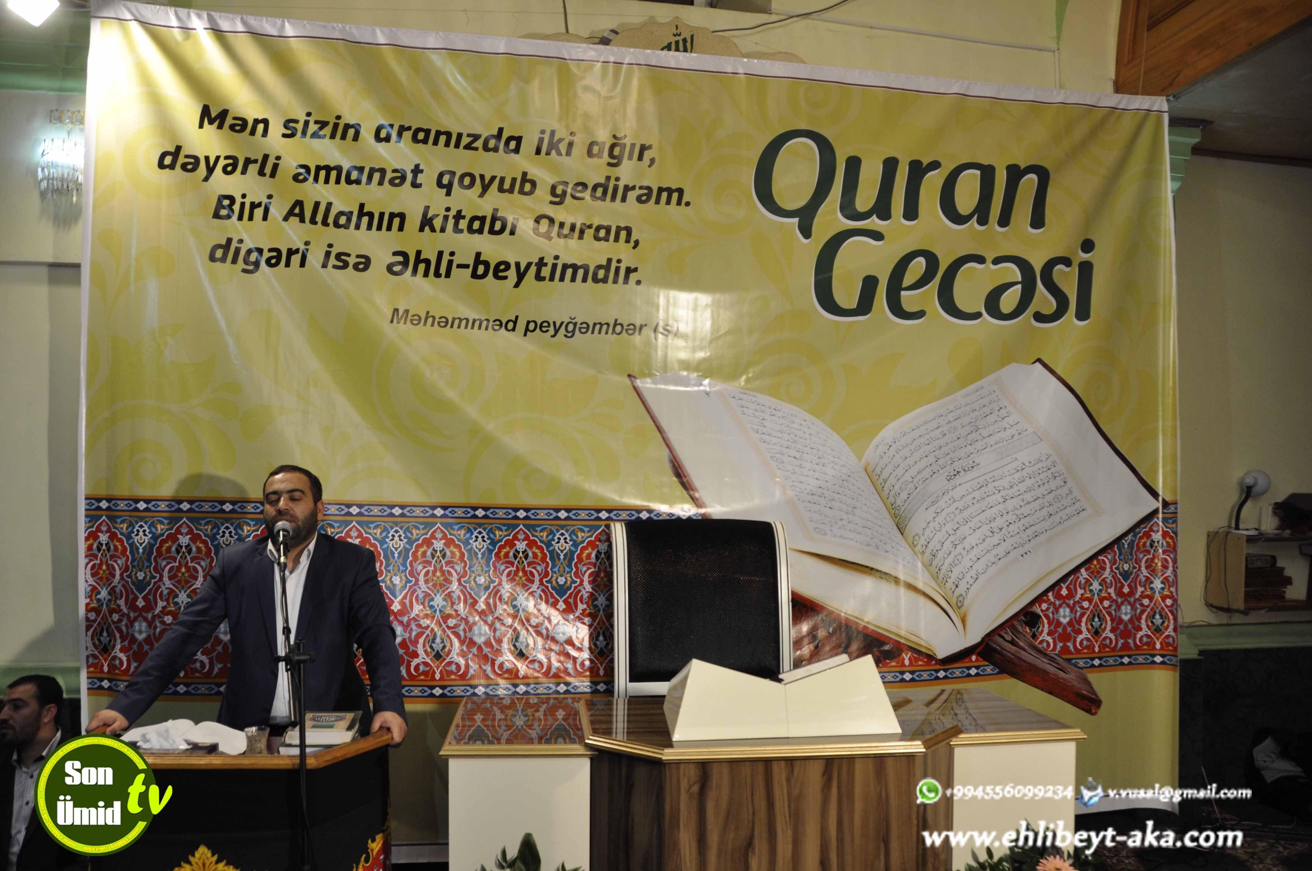 Bakida Xanim Zəhra S ə Movludu Munasibətinə Gorə Quran Gecəsi Keciriləcək Quran Tech Company Logos Company Logo