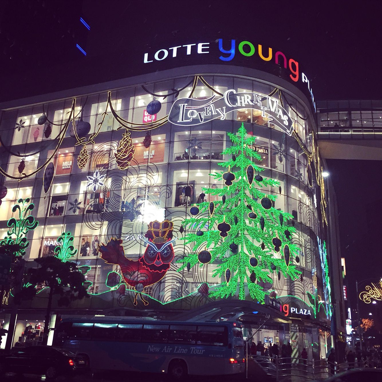 Christmas Lights At Lotte Department Store MyeongDong