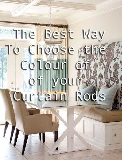How To Choose The Right Curtain Rod Colour Advice For Homeowners Curtains Living Room Curtain Rods Apartment Living Room