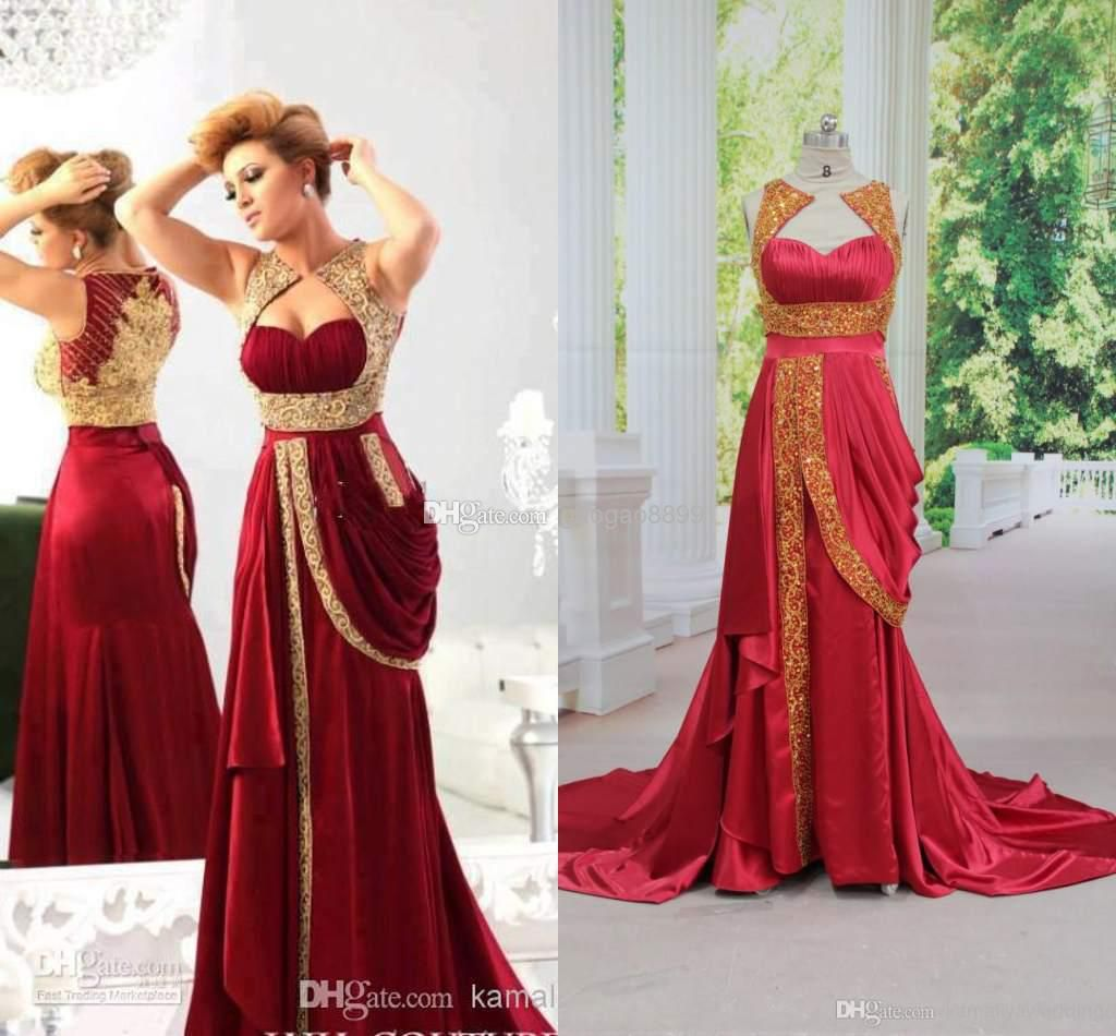 Cheap 2014 Prom Dresses - Discount 2014 Hot Red Gold Appliques ...