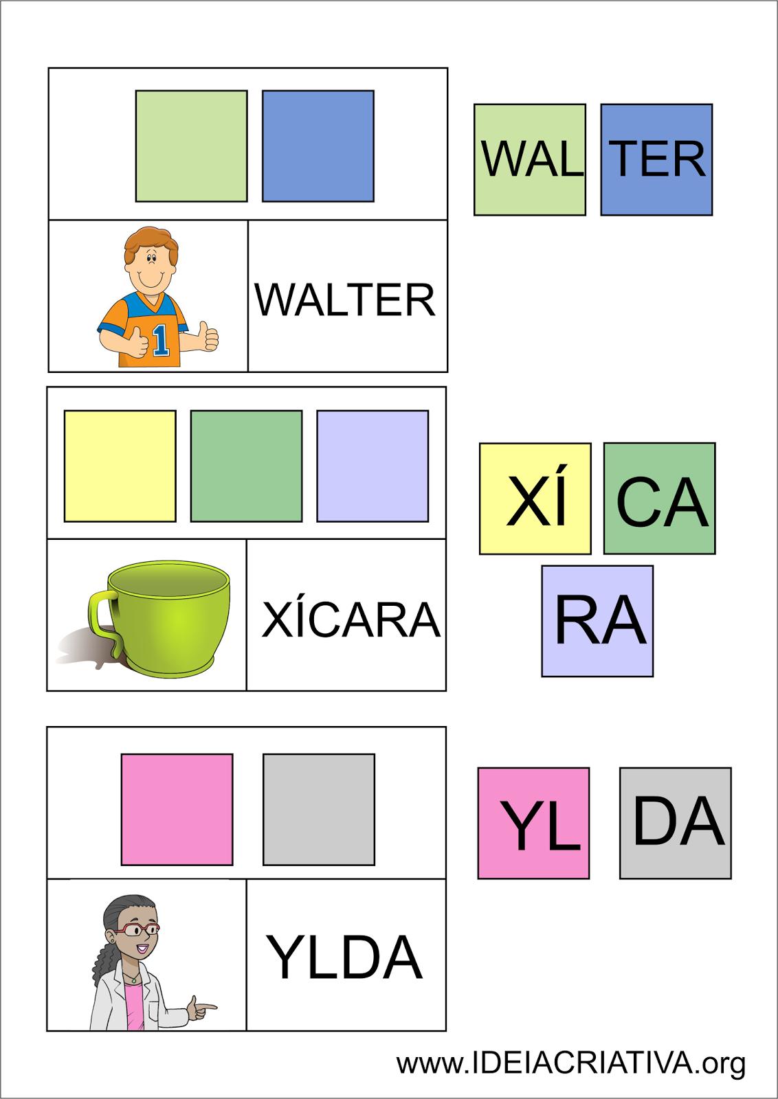 Preferência Flash Cards Letra Sílaba Autismo | Alfabetização | Pinterest  TQ92