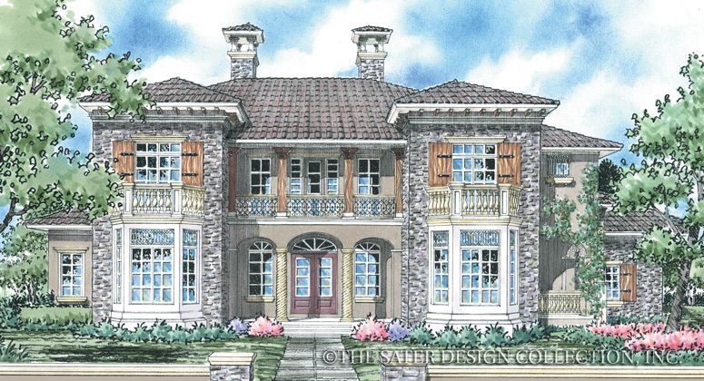 Vienna House Plan | Vienna, Luxury houses and Tuscan house plans