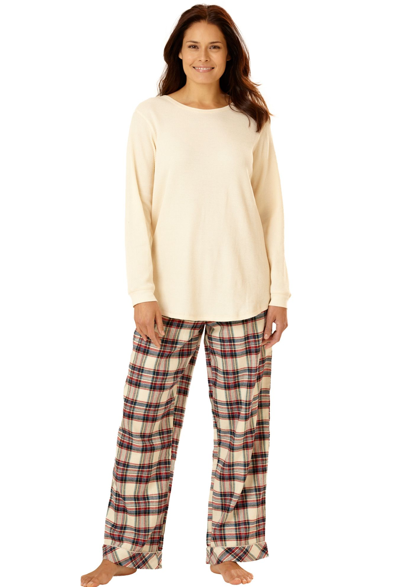 Thermal Flannel Pajamas By Only Necessities Cute Plus Size Clothes Plus Size Sleepwear Plus Size Outfits