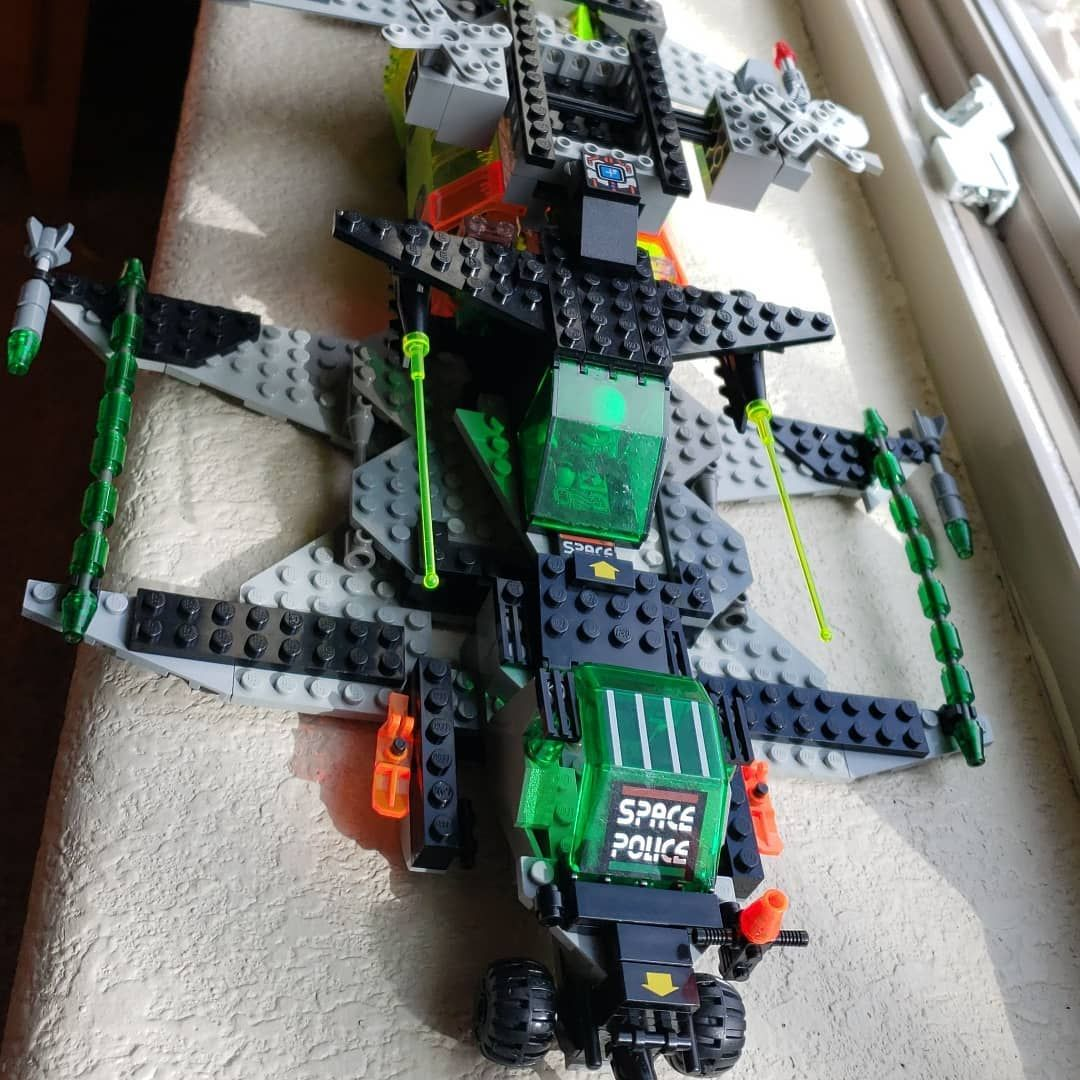 90s car toys  Building a custom Lego spaceship from different sets I got in the