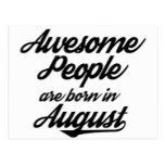 Awesome People are born in August Postcard | Zazzle com | my quotes