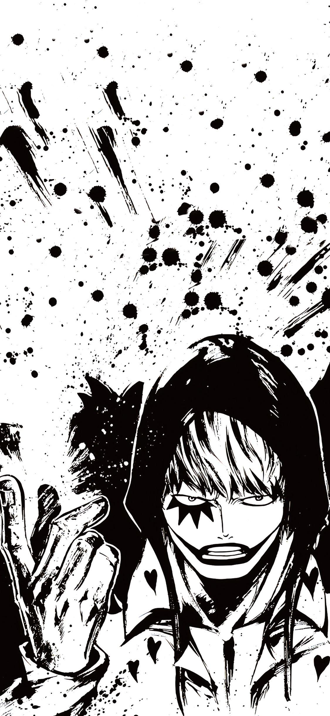 cartoons 白黒の壁紙 ロシナンテ コラソン