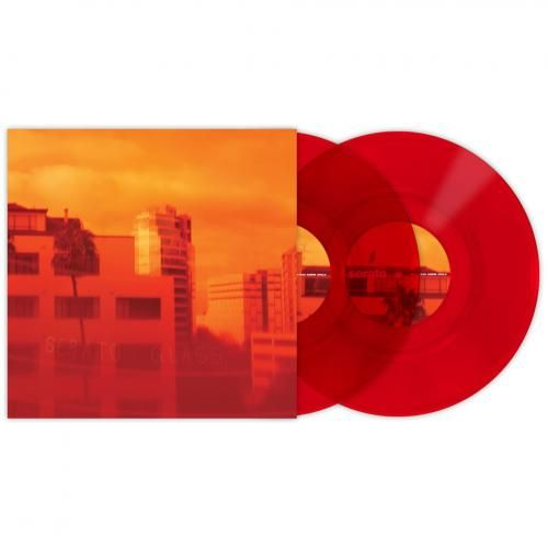 Serato Control Vinyl Red Glass Pair Red Glass Vinyl Records Red