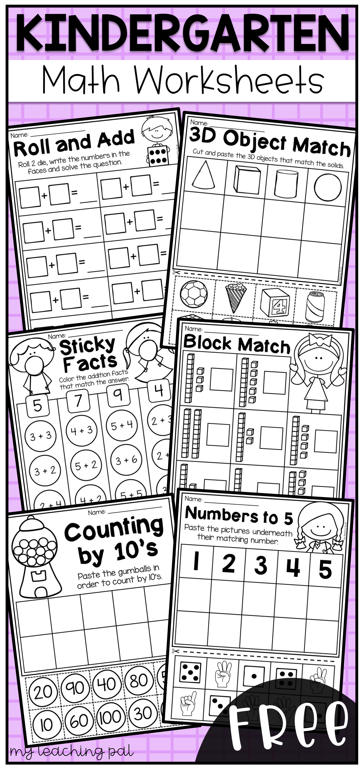 Free Kindergarten Math Worksheets